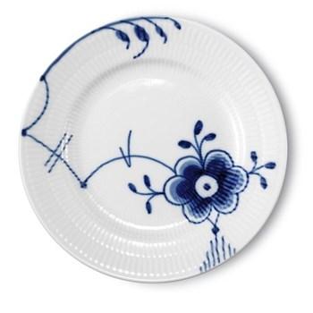 Blue Fluted Mega Side plate, 17cm