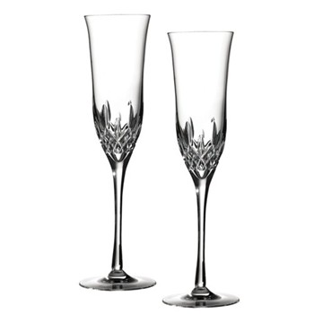 Lismore Essence Pair of Champagne flutes