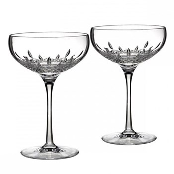 Lismore Essence Pair of Champagne saucers