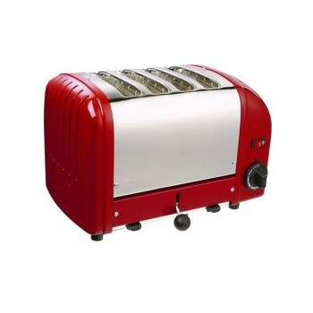 Classic Combi toaster, 2 x 2 slot, red