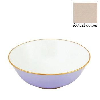 Sous le Soleil Open vegetable dish/salad bowl, 25cm, mastic with gold band