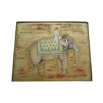 Elephant no.5 Tablemat rectanglular large, 24.5 x 34cm, gold leaf