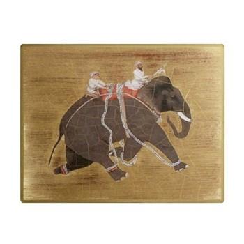 Elephant no.1 Tablemat rectanglular large, 24.5 x 34cm, gold leaf