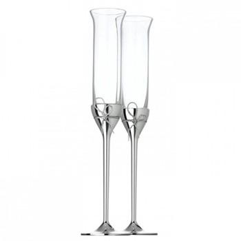 Vera Wang - Love Knots Pair of toasting flutes