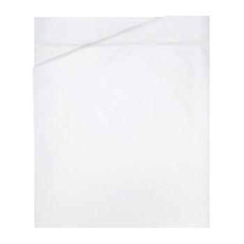 Athena King size flat sheet, 270 x 295cm, white on white