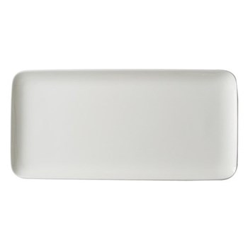 Pure Rectangular dish, 15 x 32cm, white bone china