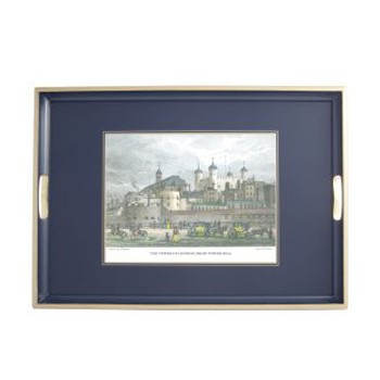 Shepherd's London - Traditional Range Traditional tray, 55 x 39.5cm, Oxford blue