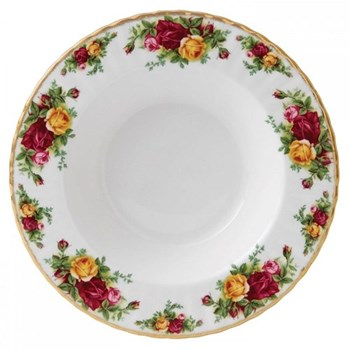 Old Country Roses Rim soup plate, 24cm