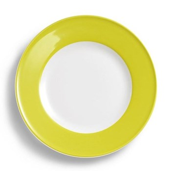Solid Colour Plate with rim, 28cm, lime