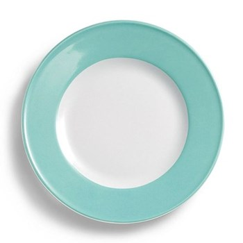 Solid Colour Plate with rim, 28cm, seawater green