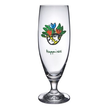 """Friendship """"Happiness"""" Beer glass"""