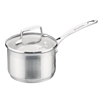Impact Saucepan with glass lid, 16cm, stainless steel