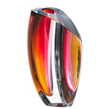 Mirage by Goran Warff Vase, large, grey/red