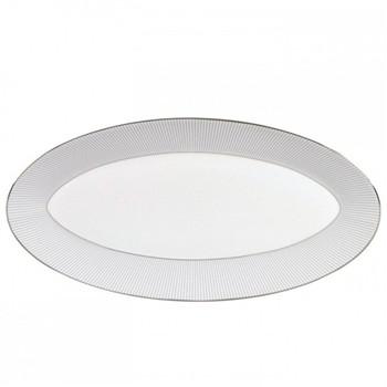 Jasper Conran - Pin Stripe Oval platter, 39 x 21.5cm