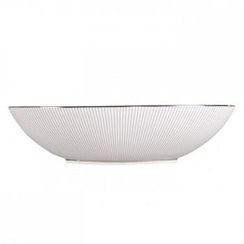 Jasper Conran - Pin Stripe Oval open serving dish, 30.5 x 7cm