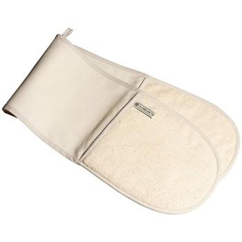 Textiles Double oven glove, cream