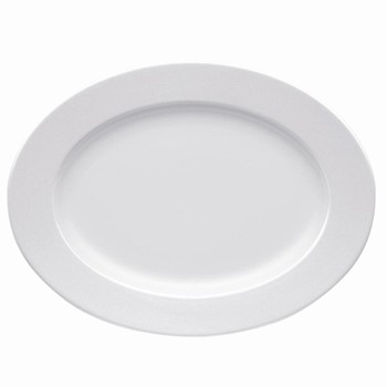 Sunny Day Oval platter, 33cm, white