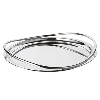 Vertigo Round tray, 39cm, Christofle silver