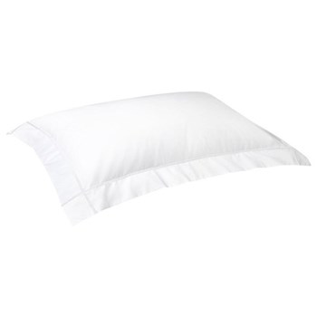 Athena Oxford pillowcase, 50 x 75cm, white on white