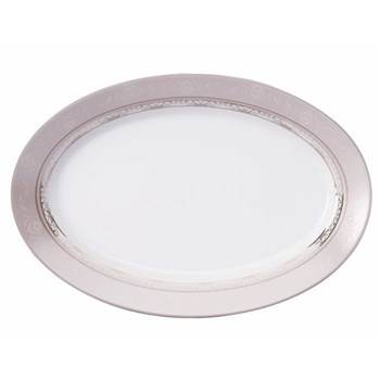 Margot Oval dish, 40cm, taupe