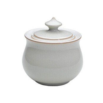 Linen Covered sugar bowl, 31cl - 10 x 11.5cm