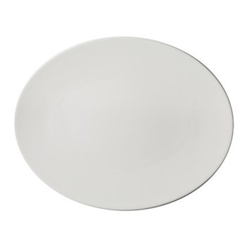 Pure Oval platter, 28cm, white bone china