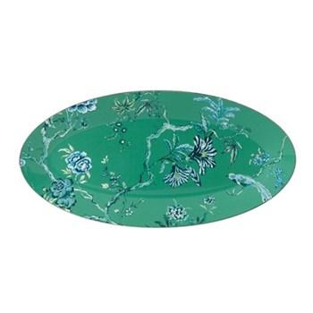 Jasper Conran - Chinoiserie Green Oval platter, 45 x 24.5cm