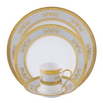 Orsay Oval dish, 40 x 27.5cm, sky grey