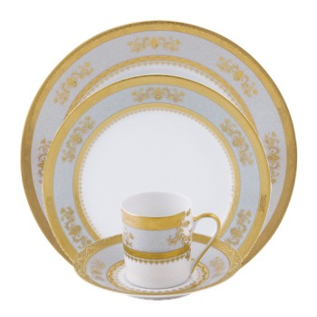 Orsay Flat dish, sky grey