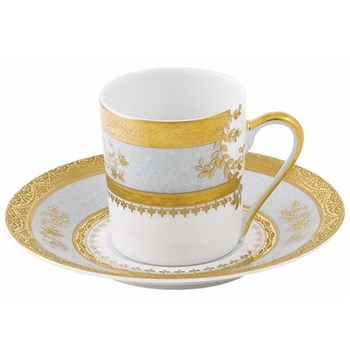 Orsay Coffee cup and saucer, sky grey