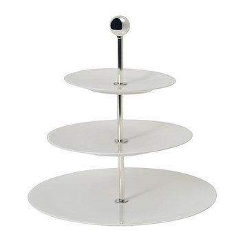 Pure Three tier cake stand, 16/21/28cm, white bone china