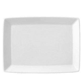Loft Plate rectangular, 18cm, white