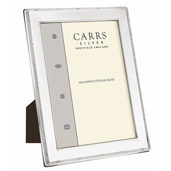 """W Series - Reed and Ribbon Photograph frame, 8 x 6"""", sterling silver with mahogany finish back"""