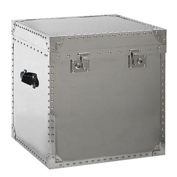 Steel Cube Side chest, H60 x W58 x D58cm