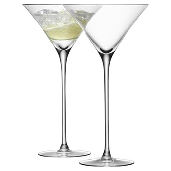 Bar Pair of cocktail glasses, 27.5cl, clear