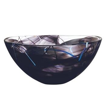 Contrast Bowl, 35cm, black