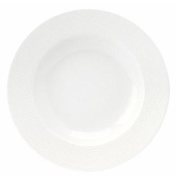 Seychelles Rim soup plate, 22cm, white