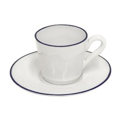 Set of 6 espresso coffee cups and saucers 8cl