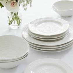 Ceramics Set of 4 dinner plates, 28cm, White