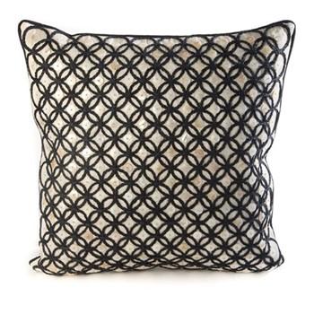 Audrey Pillow, L50.8 x H50.8cm, black & white