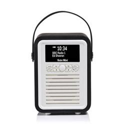 Retro Mini DAB radio, H22 x W15 x D10.5cm, black