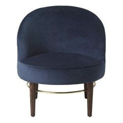 Club Lounge Chair, H77 x D66cm, royal blue