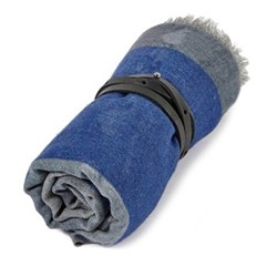 Vista Travel throw, 200 x 145cm, grey/blue