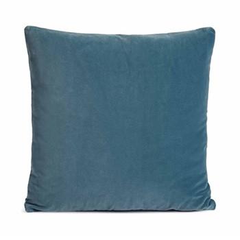Monroe Square cushion, velvet/teal