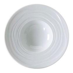 Onde White Set of 6 pasta plates, 27cm