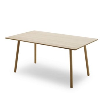 Georg Dining table, L155 x W90 x H73cm, oak/white soap