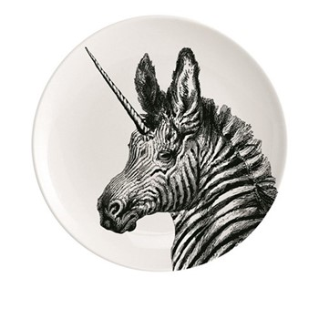You'Re Magic Plate, Dia20cm, black/white