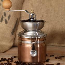 Origins Manual coffee grinder, 18.5cm x 11.5cm x 11.5cm, Copper
