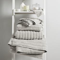 Hydrocotton Face cloth, 30 x 30cm, Pearl Grey