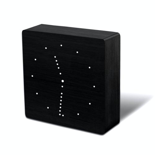Click Analog clock, L25 x W25 x H6.5cm, Black